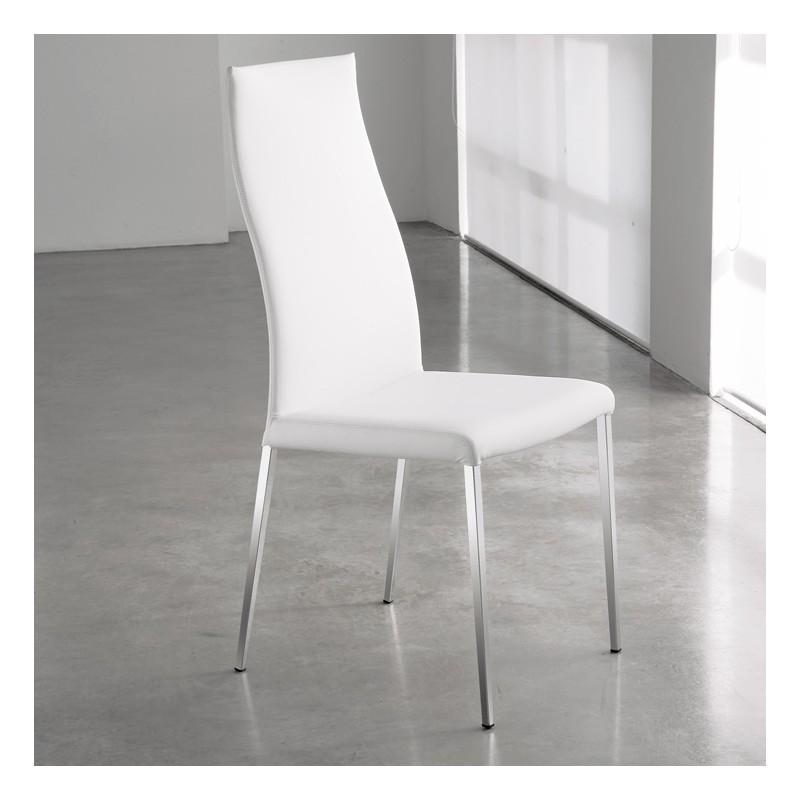 Sedia rivestite in pelle, ecopelle e stoffa - Passarini