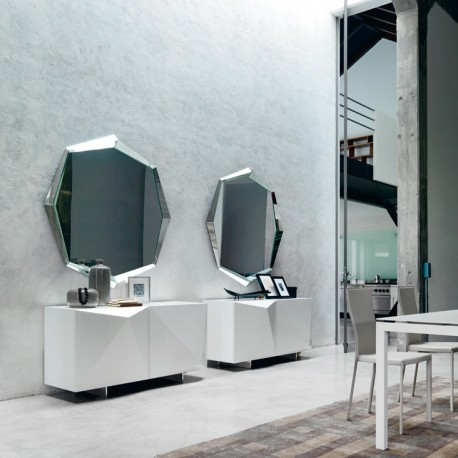 Specchio da parete in cristallo passarini - Specchi da camera moderni ...